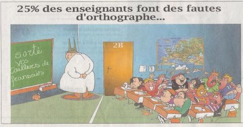 fautes d'orthographe,profs,enseignants
